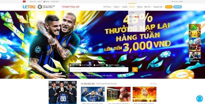 Letou - Trang web có thiết kế giao diện xấu khó chơi